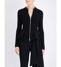 Givenchy Peplum Knitted Cardigan Blk