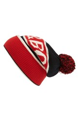 Rag And Bone Men's Matthew Logo Beanie Red
