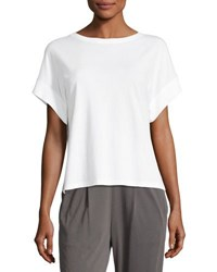 Skin Boxy Pima Cotton Lounge Tee White