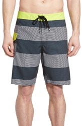 Rvca Men's Civil Stripe Board Shorts Blue Slate