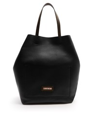 Marni Grained Leather Shopper Black Multi