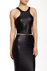Donna Mizani Racer Crop Top Black