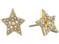 Marc Jacobs Mj Coin Tiny Star Pave Studs Earrings Crystal Gold Earring