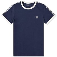 Fred Perry Taped Ringer Tee Blue