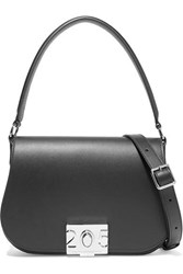 Calvin Klein 205W39nyc Bonnie Grosgrain Trimmed Leather Shoulder Bag Black