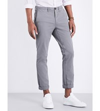 Michael Kors Slim Fit Skinny Stretch Cotton Chinos Storm Grey