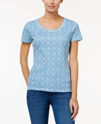 Charter Club Printed Cotton T Shirt Only At Macy's Clear Coast