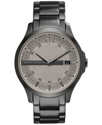 Armani Exchange Men's Gunmetal Tone Stainless Steel Bracelet Watch 46Mm Ax2194