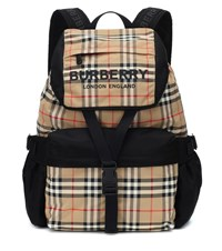 Burberry Vintage Check Ll Wilfin Backpack Beige