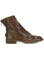 Guidi Rear Zip Boots Brown