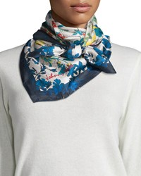Floral Print Silk Scarf Multi Johnny Was Collection
