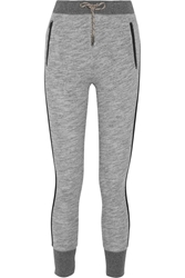 Rag And Bone Murphy Cotton Jersey Track Pants Gray