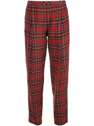 Rosetta Getty Plaid Trousers Red