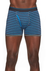 The Rail Stripe Boxer Briefs Navy Heather