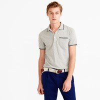 J.Crew Textured Cotton Tipped Polo Shirt