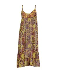 Replay 3 4 Length Dresses Yellow