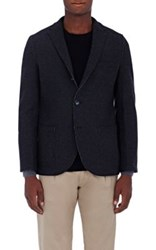 Barneys New York Men's Stretch Melton Three Button Sportcoat Dark Grey
