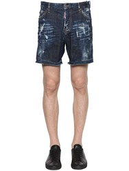 Dsquared Distressed Stretch Cotton Denim Shorts