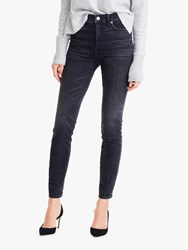 J.Crew 9 High Rise Toothpick Jeans Charcoal Wash