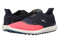 Puma Golf Ignite Spikeless Sport Disc Bright Plasma Peacoat Shoes Black
