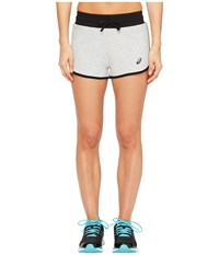 Asics Knit Shorts Light Grey Heather Women's Shorts Gray