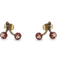 Marc Jacobs Cherry Stud Earrings Red Multi