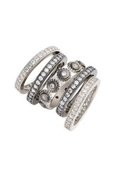 Freida Rothman Women's 'Deco' Stacking Rings Set Of 5