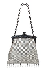 Whiting And Davis 'Heritage Deco' Mesh Handbag Metallic Pewter