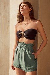 Urban Outfitters Uo Johnny Belted Paperbag Short Sky