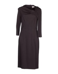 Nina Knee Length Dresses Brown