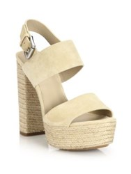 Michael Kors Summer Suede Platform Sandals Light Beige