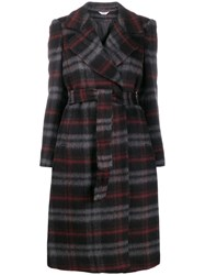 Liu Jo Checked Belted Trench Coat 60