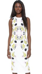 Cynthia Rowley Stencil Floral Sheath Dress White