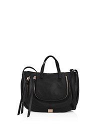 Kooba Monteverde Leather Satchel Black Gold