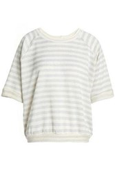 Kain Label Tali Printed Cotton Blend Jersey Sweatshirt Ivory