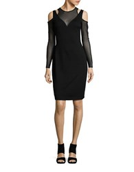 Bailey 44 Too Close Illusion Sheath Dress Black