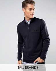 Ted Baker Tall Funnel Neck Sweat Navy