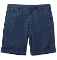 Incotex Slim Fit Stretch Cotton Shorts Navy