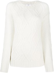 Allude Chunky Knit Jumper White