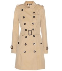 Burberry The Chelsea Cotton Trench Coat Beige