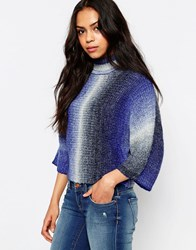 Only Gradient High Neck Pull Over Jumper Night Sky Blue