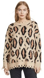 Moon River Leopard Sweater Taupe Leopard