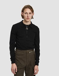Cmmn Swdn Curtis Zip Polo Sweater Black