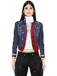 Dsquared Silk Wool Vest And Denim Jacket Blue