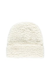 Forever 21 Fuzzy Fold Over Beanie Cream