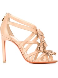 Santoni Tassel Sandals Nude And Neutrals