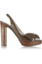 Valentino Patent Leather Pumps Brown