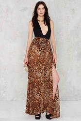 Nasty Gal Wildfire Maxi Skirt Leopard