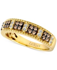 Le Vian Chocolate Diamond 1 3 Ct. T.W. And Diamond Accent Band In 14K Gold No Color