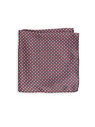Saks Fifth Avenue Printed Silk Pocket Square Red
